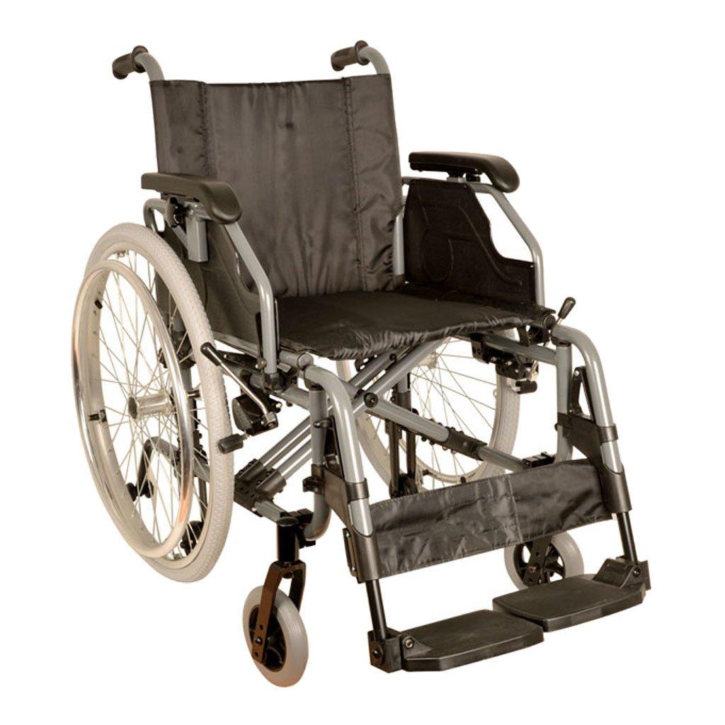 Cochecito Gima King de aluminio con asiento 46cm, tela negro