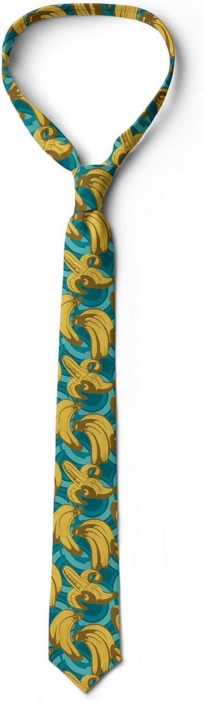 Ambesonne Mens Tie Mustard Pale Blue Fawn Retro Style Hawaiian Farm 3.7