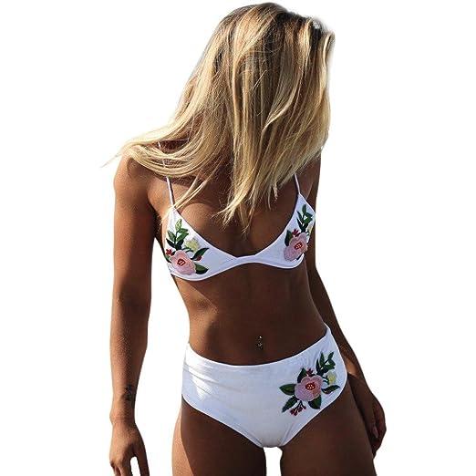 9d791b1399335 Wenjuan Embroidered Bikinis Set Sexy Swimwear Fashion Women Printing Push  Up Swimsuit Push Up Sexy Bikini