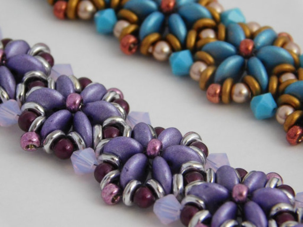 O Bead 5gr Perle di Vetro pressate ceche a Forma di Ciambella 1x4 mm Crystal Violet Rainbow Purple Iris Gold