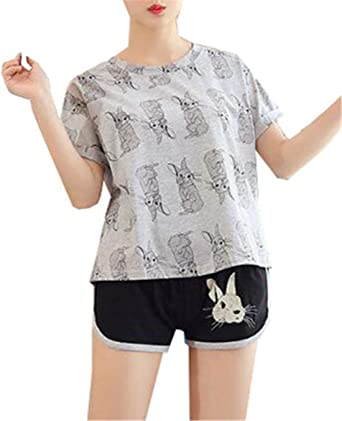 Mujer Pijamas Mujer Camiseta + Shorts Dos Piezas Verano ...