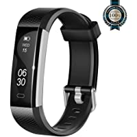 Lintelek Activity Tracker Slim Fitness Tracker Watch, Touch Screen Bluetooth Pedometer Smart Bracelet with Anti-lost Strap