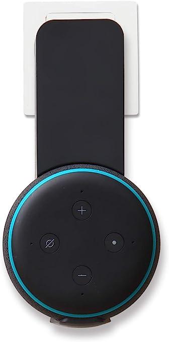AmazonBasics - Soporte para montaje en pared para Echo Dot de tercera generación, Negro