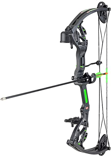 Black Right Hand 12-29-Pound PSE Youth Heritage Compound Bow Set