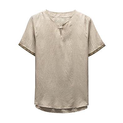 YULAND Herren T Shirt Poloshirt Tee, Bekleidung Tops Männer
