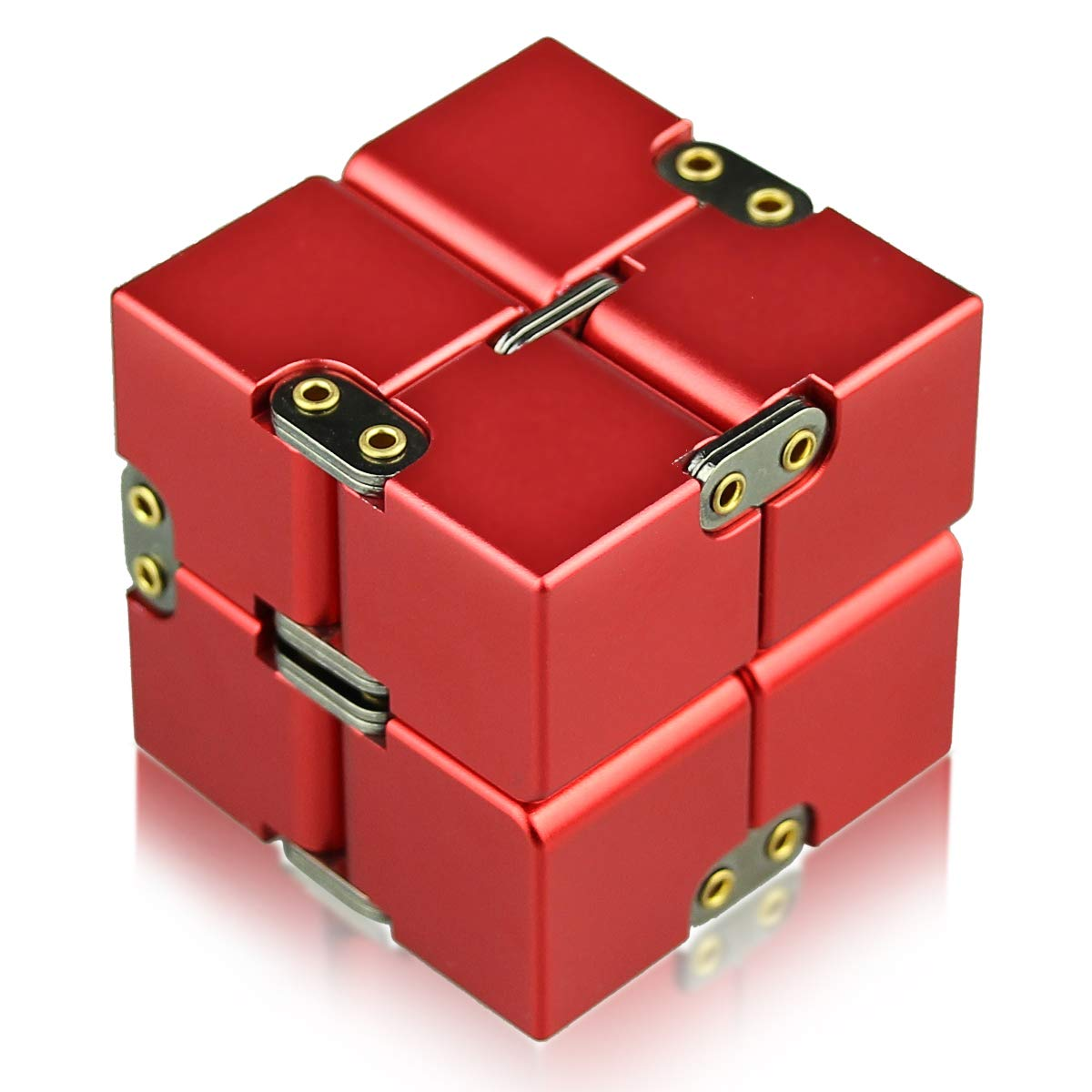 Helesin Infinity Cube Fidget Toys Relaxation Office Stress Reducers ADD, ADHD, Anxiety, Autism Adult & Kids, Aluminium Alloy, Camouflage