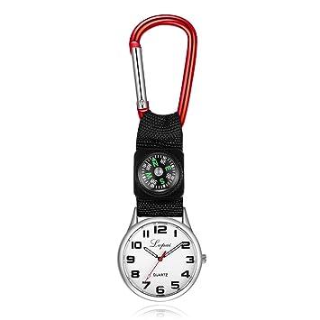WEILIVE Clip de cinturón mosquetón Reloj de Enfermera ...