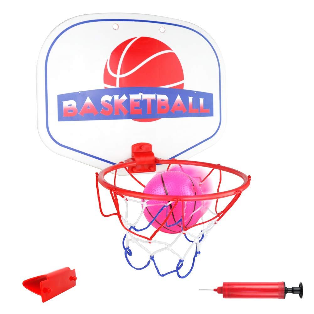 Akokie Basketball Hoop Mini Basketball Net Indoor Ball Pump Kids Girls Boys 3 4 5 6 Years Old