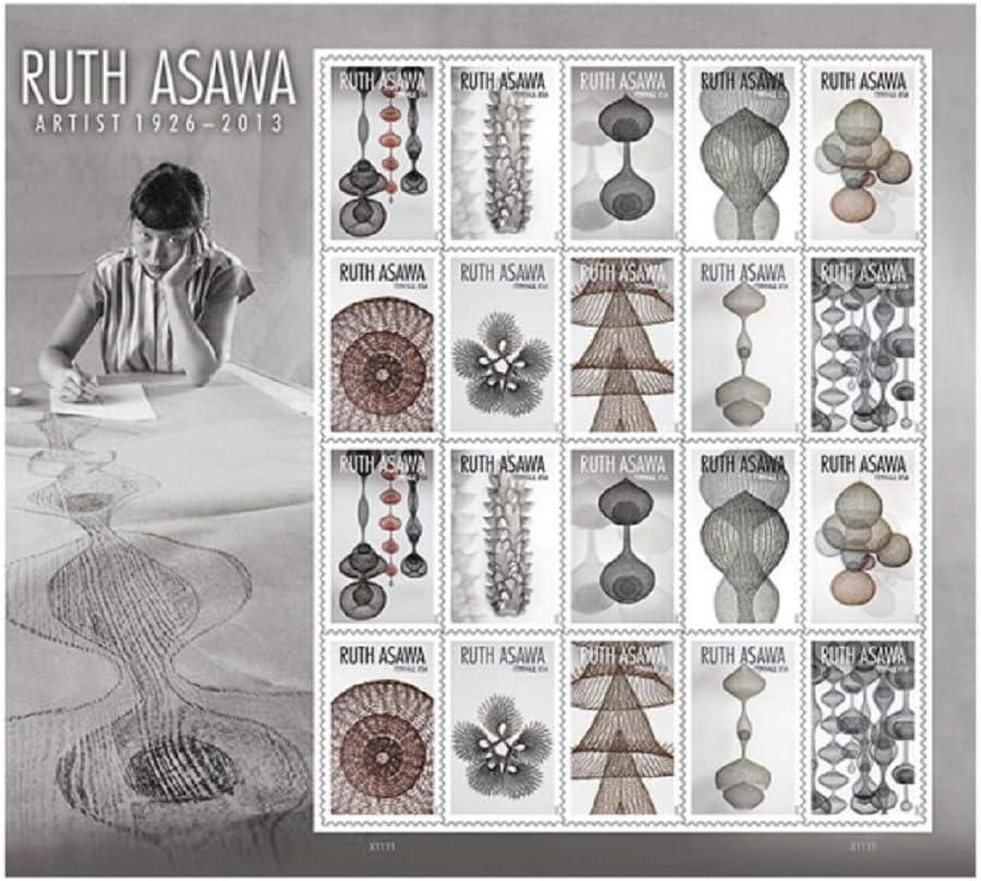 Ruth Asawa US Postage Stamps Sheet of 20