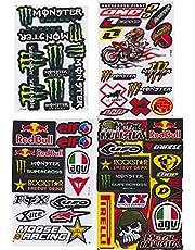 JAB 4 x weerbestendige vinyl stickers bomb promotion aanbieding sponsors tuning motorfiets auto Rally 4 vellen voorgestanst 26,5 x 17,5 cm