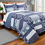 Pegasus Home Fashions Vintage Collection Tiffanie Box Quilt Plus Sham Set, Twin Reviews