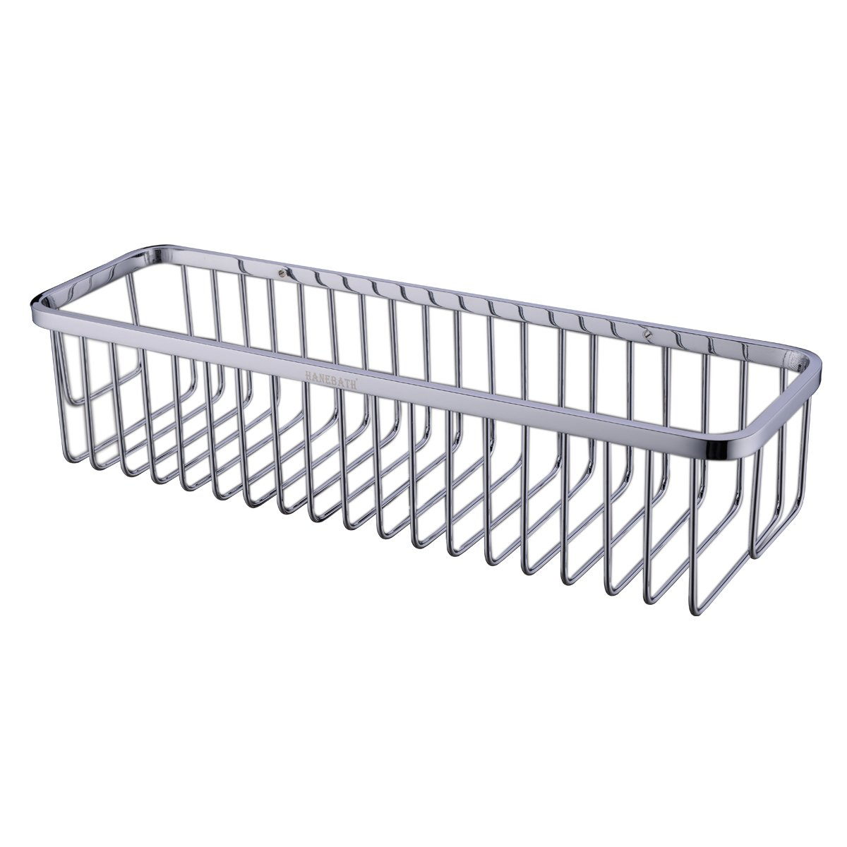 Rectangular Shower Caddy - Stainless Steel Wall Mount Shower Basket for Bathroom , Polished Chrome