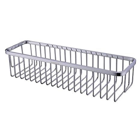 Amazon.com: Rectangular Shower Caddy   Stainless Steel Wall Mount Shower  Basket For Bathroom , Polished Chrome: Home U0026 Kitchen