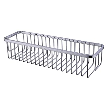Rectangular Shower Caddy   Stainless Steel Wall Mount Shower Basket for  Bathroom   Polished Chrome. Amazon com  Rectangular Shower Caddy   Stainless Steel Wall Mount