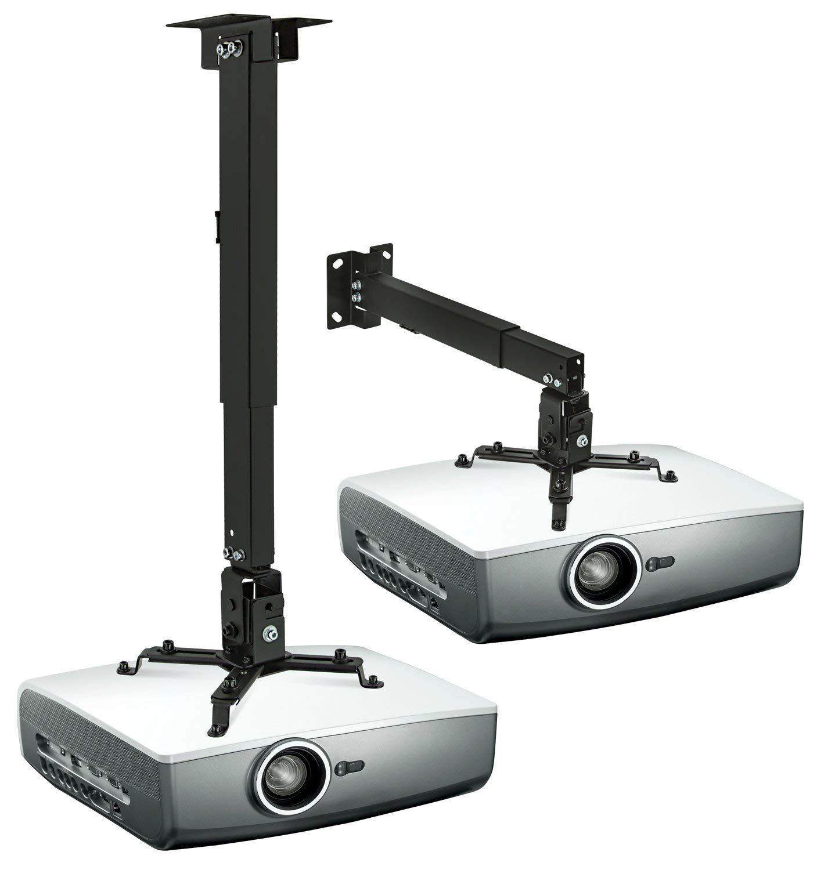 Angle Adjustable Projector Mount,LANMI Mini Projector Wall Mount Projector Hanger with Load 11 lbs Length 7.87 360 Degree
