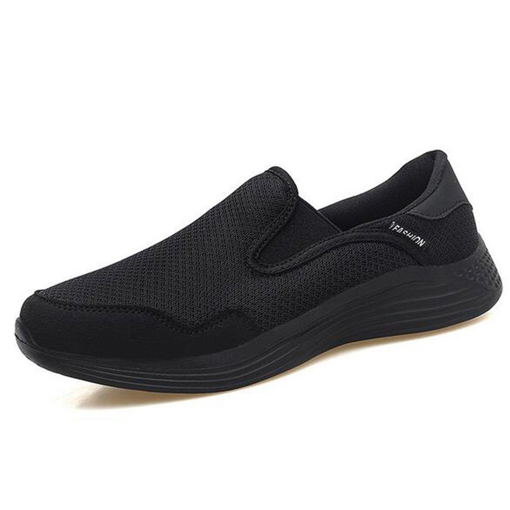 Zapatos de mujer de malla primavera verano otoño alpargatas pisos zapatos de caminar tacón plano de mediana edad y vieja entresuela de la PU zapatos casuales (Color : 06, tamaño : 36) 36|06