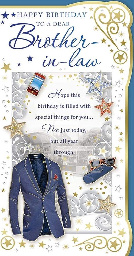 Tarjeta de cumpleaños para cuñado Galore Online de 9 x 4,75 ...