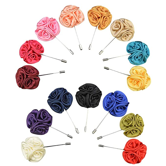 Amazon soleebee ym009 mixed random silk lapel flower pin set soleebee ym009 mixed random silk lapel flower pin set mens boutonniere pin for suit pack mightylinksfo