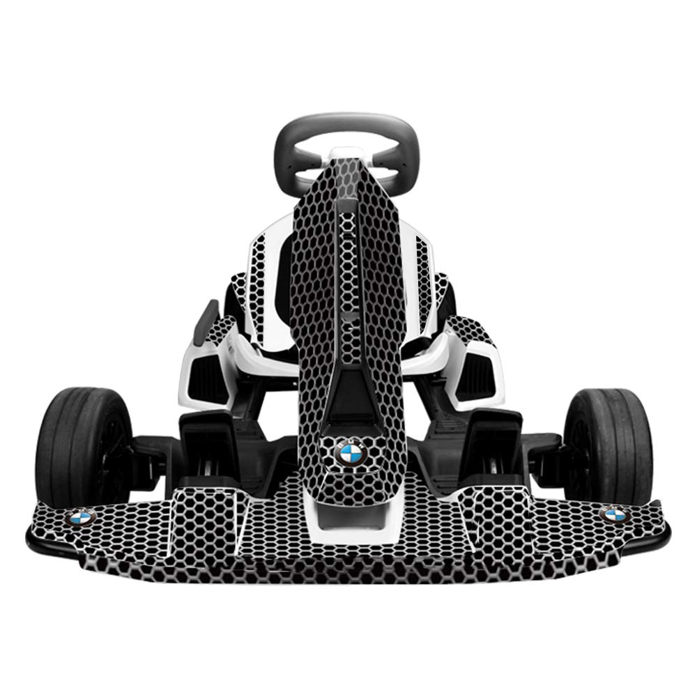 UPSTONE Decal Stickers Wrap Skin for Ninebot Electric GoKart Kit (Black)