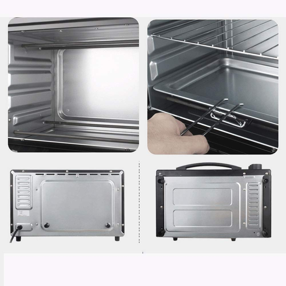 LQRYJDZ Baking Electric Oven, Large Capacity Automatic,Home Small Baking Cake Pizza Oven 20liters - 1360,Bake - Broil - Roast, Includes Rack and Baking Pan (Color : A, Size : 240240420CM) by LQRYJDZ