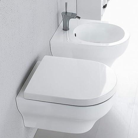 Sanitari Sospesi Nero Ceramica.Olympia Ceramica Sanitari Sospesi Clear Nero Copriwater