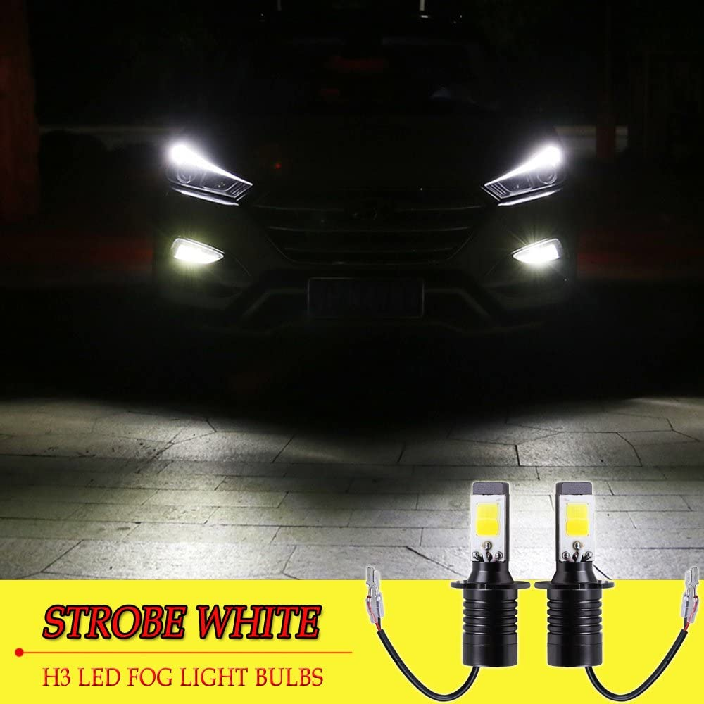 2X H8 H11 Fog Light 6000K White Super Bright LED Driving Bulb DRL 2800LM CSP EOA