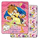 Beauty and the Beast,''Enchantment Awaits'' Double Sided Cloud Throw Blanket, 50'' x 60''