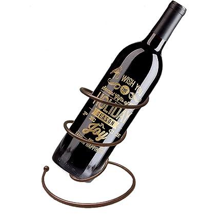 bd95ad021f Amazon.com: Decor Hut Wine Bottle Holder Spiral Design Tabletop Wine Rack  Great Gift! Unique Rosegold Color!: Home & Kitchen