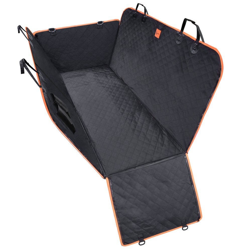 Dog Seat Cover XL, Lantoo Upgrade Larger Back Seat Pet Seat Cover Hammock for Cars, Trucks, SUVs with Nonslip Backing ,Side Flaps, Waterproof, Soft