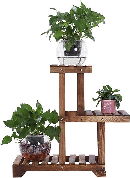 Cocoarm – Soporte para Plantas de Madera, estantería para Flores, 3 Niveles, Escalera para Interior, balcón, salón, Exterior, jardín, decoración: Amazon.es: Hogar