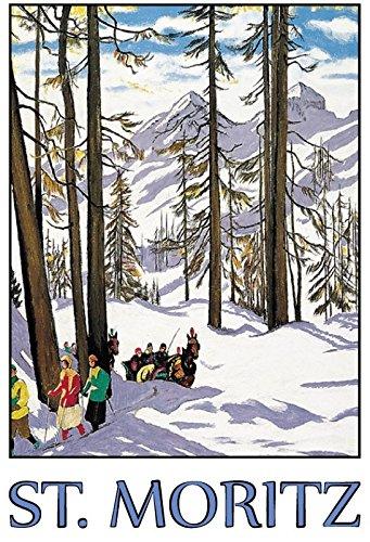 Cartel de Chapa genérica 20 x 30 cm St.Moritz Alpes ...