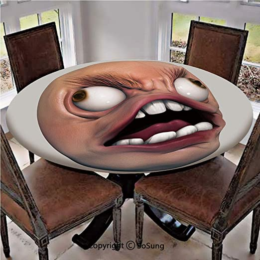 Amazon Com Elastic Edged Polyester Fitted Table Cover Angry Rage
