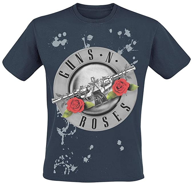 Guns N Roses Faded Roses Camiseta Azul oscuro XXL: Amazon.es: Ropa y accesorios