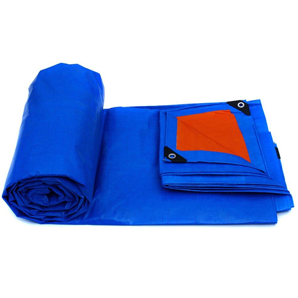 GUOWEI-pengbu ターポリン キャンバス リノリウム シェード 日焼け止め 防水 耐寒性 絶縁 不凍液 耐候性 ポリエチレン 屋外 (色 : Blue, サイズ さいず : 4.8x3.8m) B07FYJTLBJ 4.8x3.8m|Blue Blue 4.8x3.8m