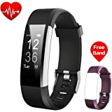 Fitness Tracker, iPosible Activity Tracker Heart Rate Monitor Smart Bracelet Bluetooth Pedometer with Sleep Monitor Steps Counter GPS Smartwatch for iPhone Samsung & Android or iOS Smartphones for Women, Men, Kids and Replacement Band