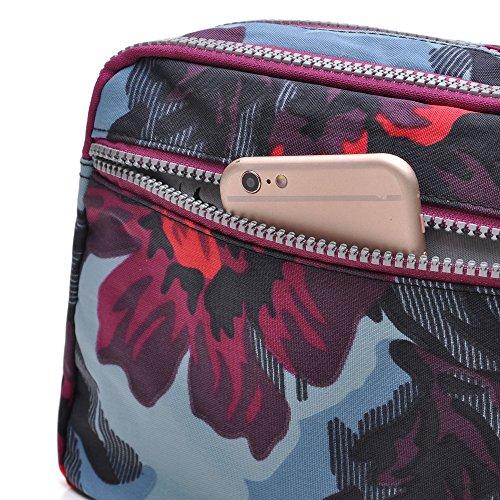 Bandoulière Nylon Pour Femme Imperméable Waterproof Bag Voyager Sacs Bleu Crossbody tuokener 58TqBO