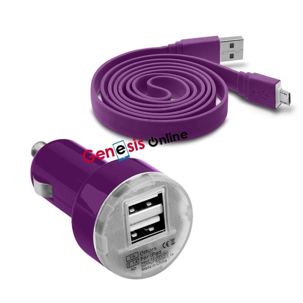 Fonetic Solutions 7, 12 V//24 V, USB de Doble Puerto Compacto, Carga r/ápida, Adaptador de Cargador para Coche Funda Universal para Grammata Papyre Pad 712