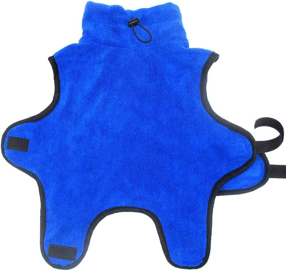M, Blue PET SPPTIES Dog Cat Bathrobe Fast Dry Soft Bath Towel Quickly Absorbing Pajamas Toweling Super Absorbent Pet Robe PS047