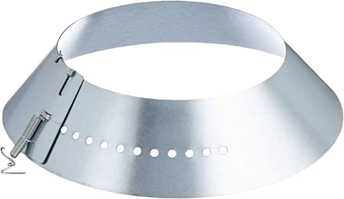 Kamino - Flam – Rosetón para tubo de chimenea (Ø 120 mm), Rosetón anillo para tubos de estufa, Rosetón conector para sistema de chimeneas, estufas, ventilaciones – plata: Amazon.es: Jardín