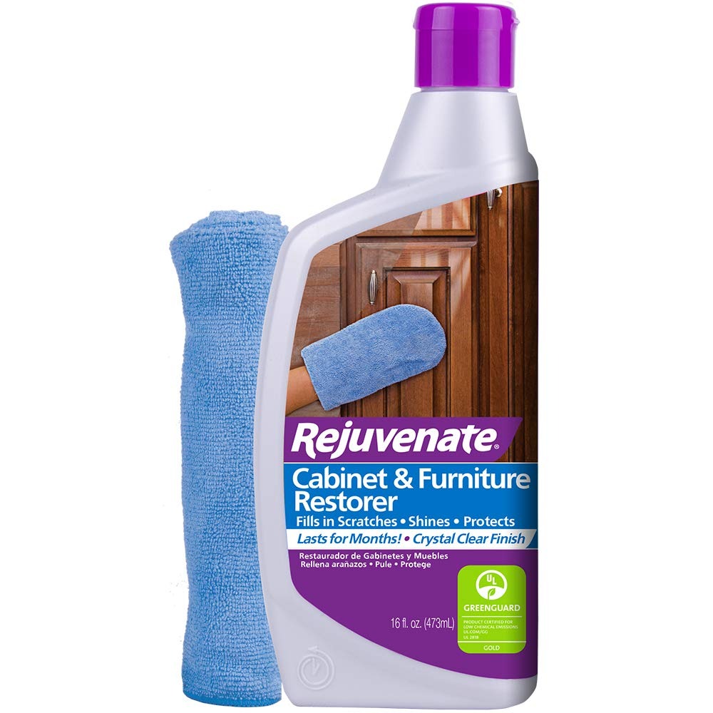 Rejuvenate Cabinet & Furniture Restorer Fills in Scratches Seals and Protects Cabinetry, Furniture, Wall Paneling by Rejuvenate