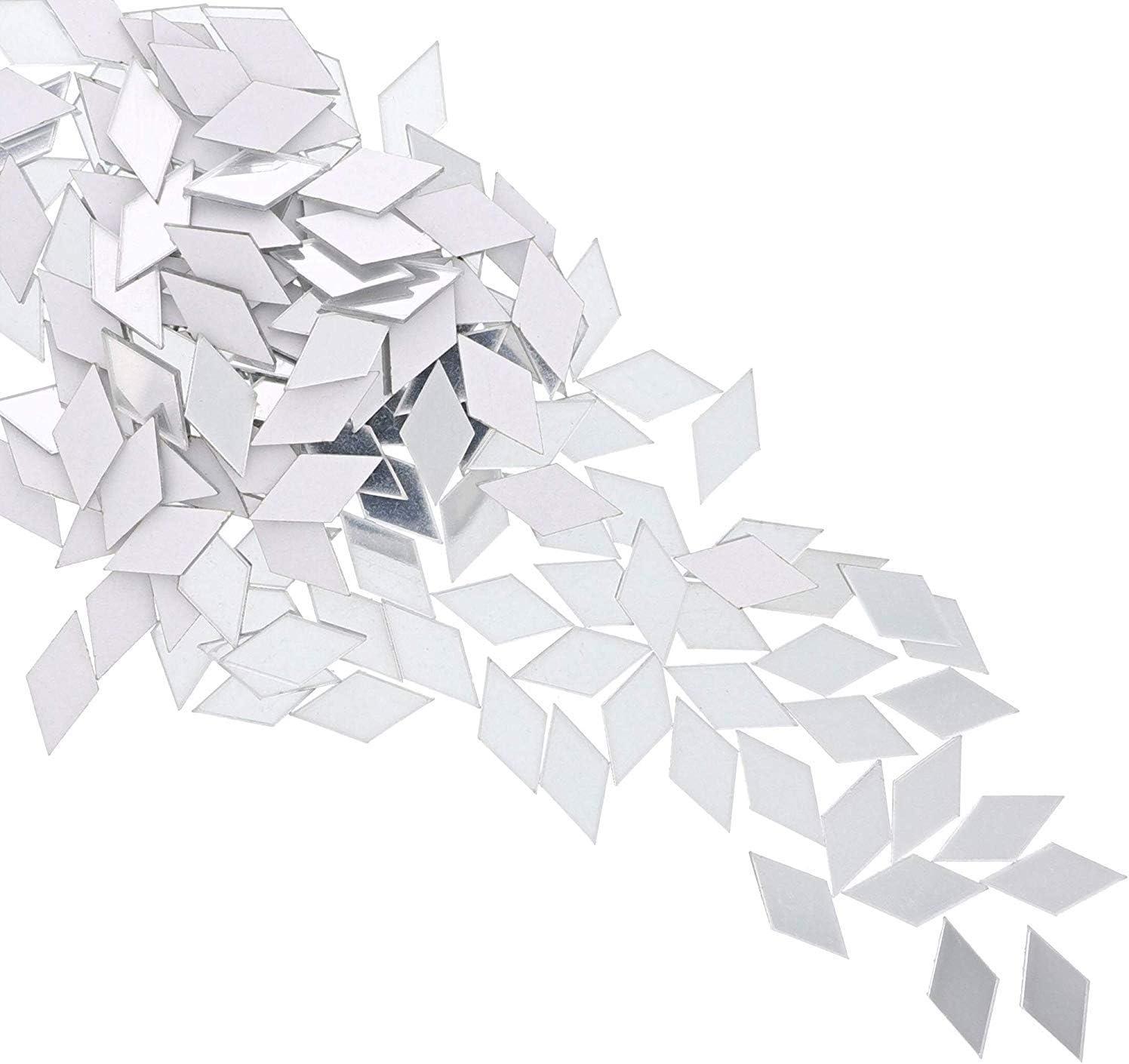 Diamond Adhesive Mirror Tiles for Wall Decor (150 Count)