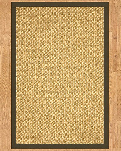 (NaturalAreaRugs Vienna Sisal Area Rug, Handmade in USA, 100% Natural Sisal, Non-Slip Latex Backing, Durable, Elegant, Stain Resistant, Eco/Environment-Friendly, (4 Feet x 6 Feet) Malt Border)