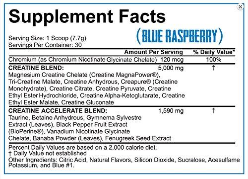 Rich Piana 5% Nutrition Crea TEN 10 Creatine System (Blue Raspberry) 8.14oz, 30 Servings