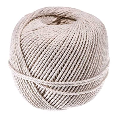 3 Strand Cable Cotton Twine (2.5 MM x 300 Feet) - Mason Line, Chalk Line, Seine Twine - Hold Knots Securely : Office Products