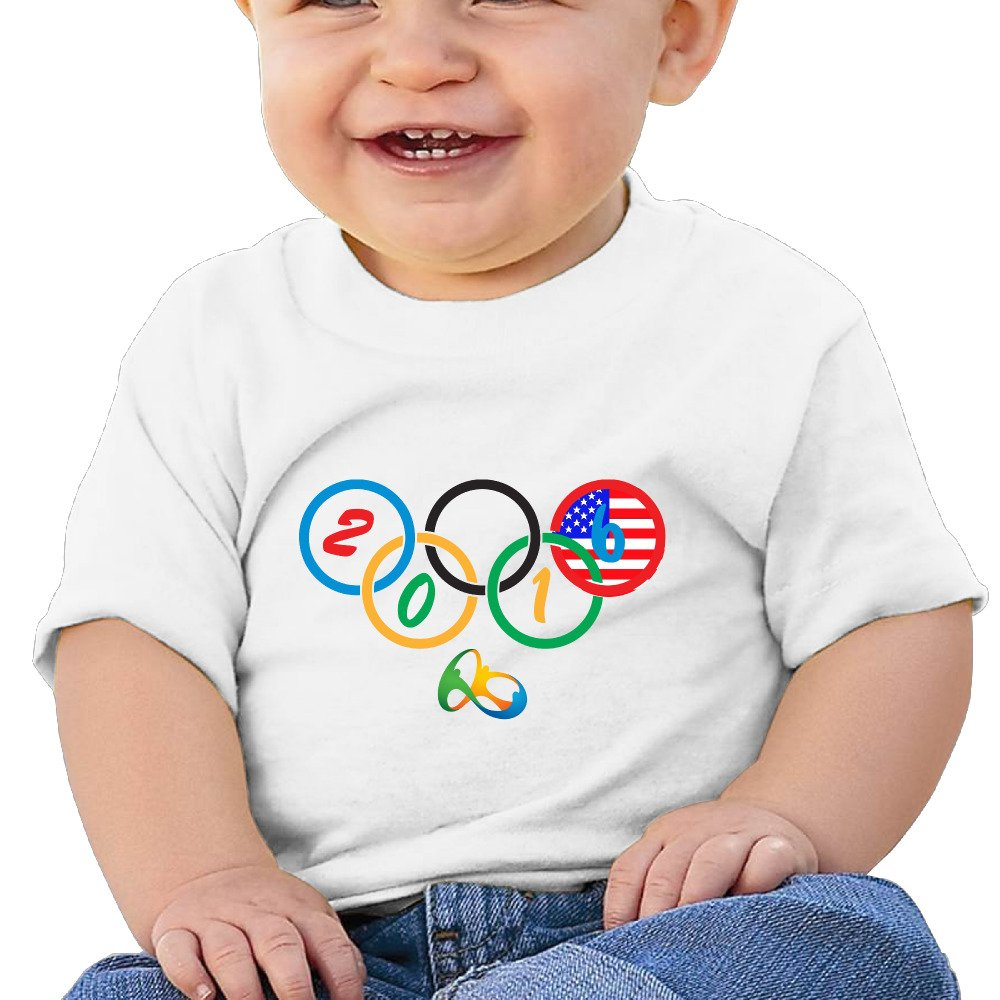 FF Fashion-S Baby Unisex USA Rio Olympic Infant Short Sleeve T-shirt (6-24 M)