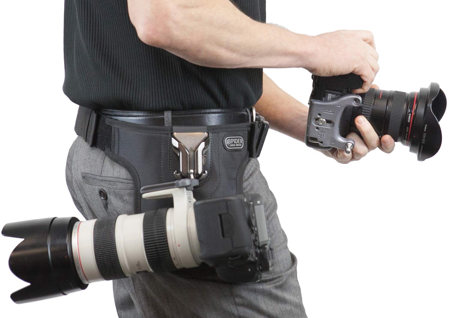 Spider Camera Holster SpiderPro Dual Camera System v2 (DCS), Belt System with Holsters for Two DSLRs, and Camera Cleaning Bundle by SpiderHolster (Image #5)