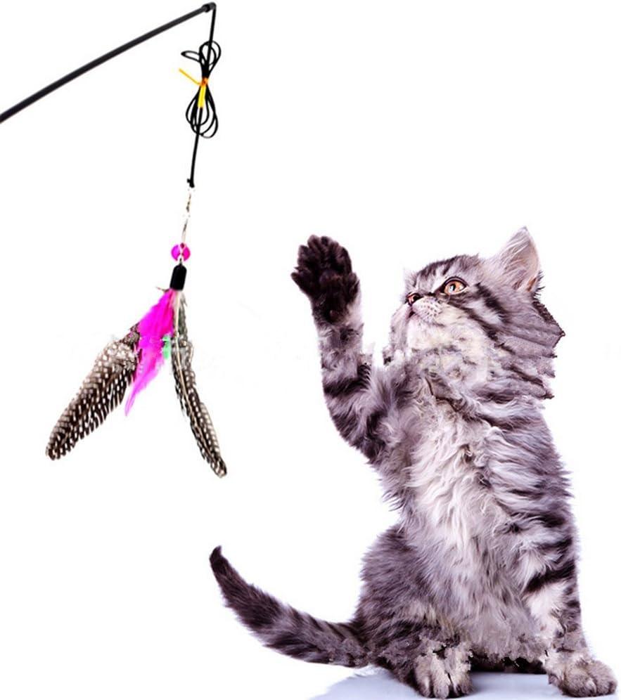 spaufu juguetes con pluma para gato juguete gato con plumero ...