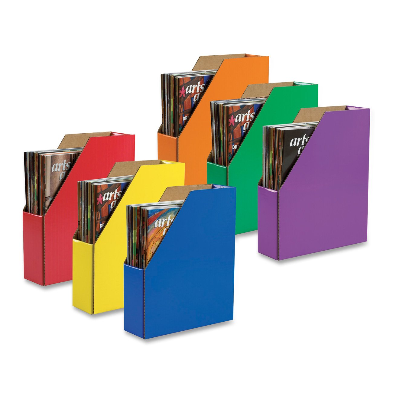 Delightful Amazon.com : Classroom Keepers Magazine Holders, 6 Assorted Colors,  (001327) : Office Storage Supplies : Office Products