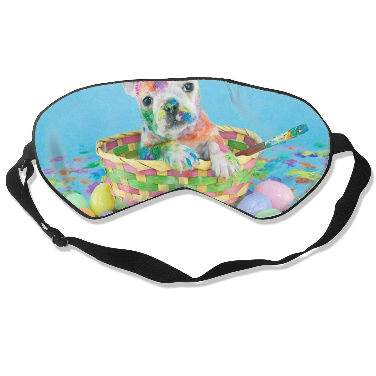 All agree Sleep Mask Frog Animal Pond Green Eye Mask Cover with Adjustable Strap Eyemask for Travel, Nap, Meditation, Blindfold