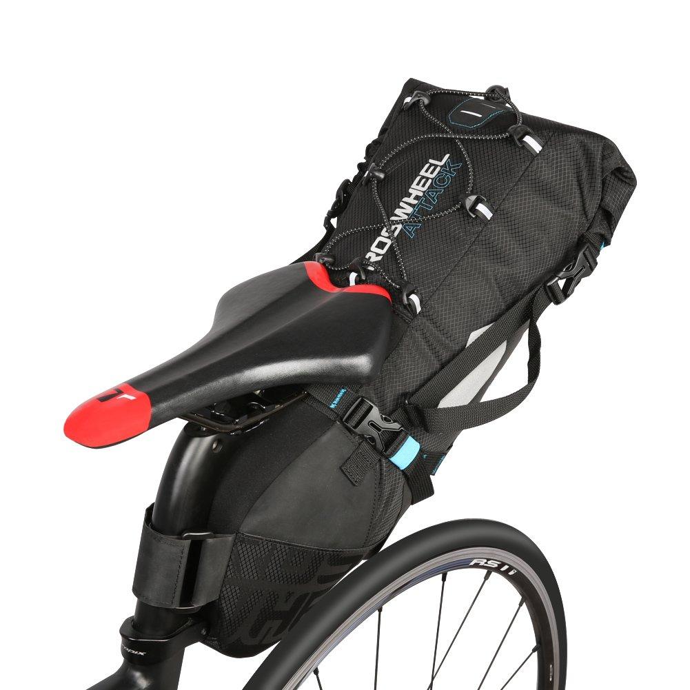10L Bike Satteltasche rei/ßfeste Polyester Fahrradsitz Hinten Taschen Umh/ängesitz Satteltasche Fahrradsattel Packsack Radfahren Hecksack Fahrradsack MTB Tasche